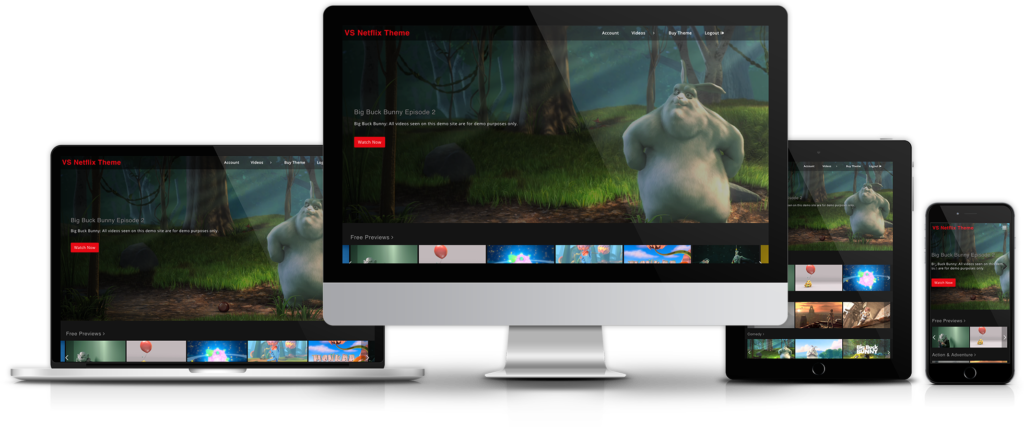 WordPress Netflix Theme